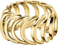 Calvin Klein Pozlačen jeklen prstanBody KJ2WJR1001