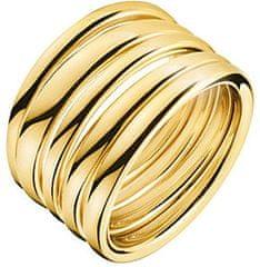 Calvin Klein Pozlačen prstan SumptuousKJ2GJR1001