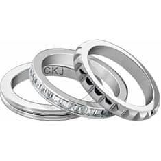 Calvin Klein Set treh jeklenih prstanov CKJ Astound KJ81WR0501