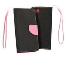 Havana Fancy Diary torbica za Samsung Galaxy A80 A805, preklopna, crno-ružičasta