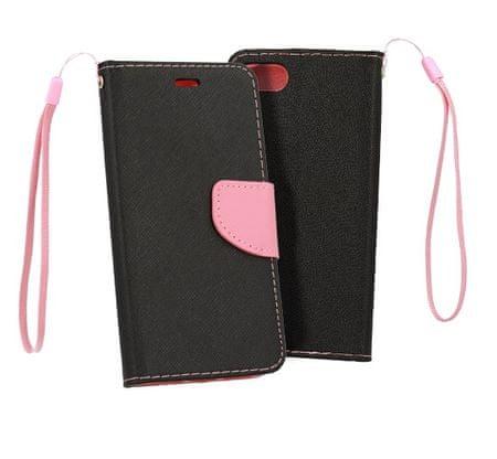Havana Fancy Diary torbica za Samsung Galaxy A80 A805, preklopna, črno-roza