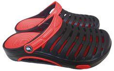 Pánské clogsy FLAMEshoes A-1003 černo-červené