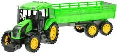 Mikro hračky Traktor s vlečkou na zotrvačník 70 cm na batérie so svetlom 10 zvukov