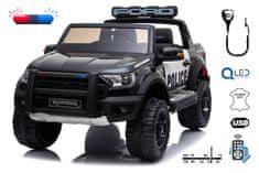 Beneo Elektrické autíčko Ford Raptor Policejní, EVA kola, Kvalitní odpružení, čalouněné sedadlo, 2,4 GHz
