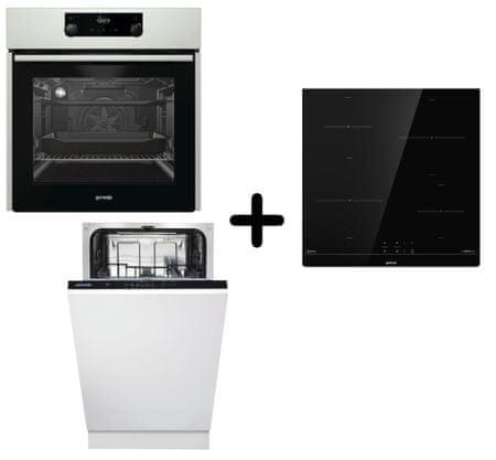 Gorenje Trio MIX 45 set, pečica + indukcijsko kuhališče + pomivalni stroj