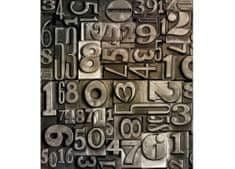 Dimex Fototapeta MS-3-0273 Tlačiarenske čísla 225 x 250 cm