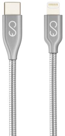 EPICO Metal USB-C to Lightning Cable, 1,2 m 9915141900003, srebrni
