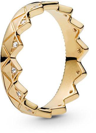 Pandora Luxusní pozlacený prsten Korunka 168033CZ (Obvod 50 mm) stříbro 925/1000