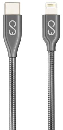 EPICO Metal USB-C to Lightning Cable, 1,2 m 9915141300006, sivi