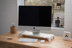 EPICO Woody Fast Charging Hub Praktický stojánek pod monitor 9915121100002, bílý