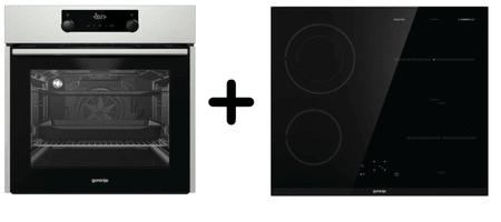Gorenje Polbeli MIX set, vgradna pečica + kombinirano kuhališče