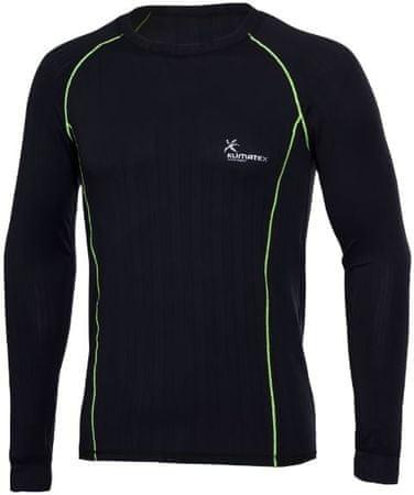 Klimatex Krystof moška športna majica, črna/svetlo zelena, S