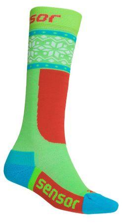 Sensor dětské ponožky THERMOSNOW NORWAY GREEN 1 - 2 zelená