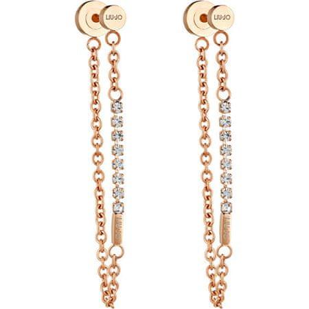 Liu Jo Rózsaszín aranyozott acél fülbevaló LJ1323