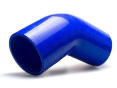 Escape6 Silikonové redukční koleno 45 stupňů s vnitřním průměrem 76 > 70 mm, modré