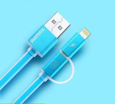 REMAX AA-1145 AURORA 2w1 KABEL USB niebieski