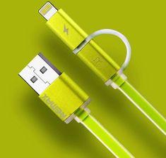 REMAX AA-1146 AURORA 2w1 KABEL USB zielony