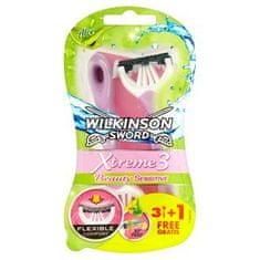 Wilkinson Sword 70017140 Xtreme 3 Beauty Sensitive pohotový holicí strojek (3 + 1 ks)