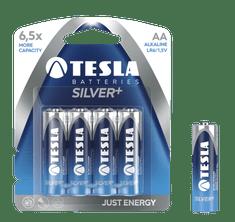 TESLA 1099137005 SILVER Alkaline baterie AA (LR06, tužková, blister) 4 ks