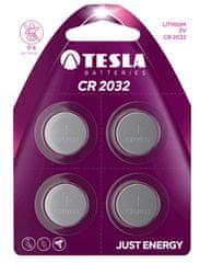 TESLA 1099137111 CR 2032 Lithium, CR2032, BLISTER/4ks