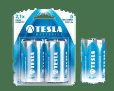 TESLA 1099137023 BLUE Zinc Carbon baterie D (R20, velký monočlánek, blistr) 2 ks