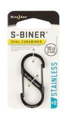 Nite Ize SB2-03-01 S-Biner® Stainless Steel Dual Carabiner #2 - Black