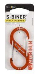 Nite Ize SBA3-19-R6 S-Biner® Aluminum Dual Carabiner #3 - Orange