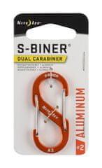 Nite Ize SBA2-19-R6 S-Biner® Aluminum Dual Carabiner #2 - Orange