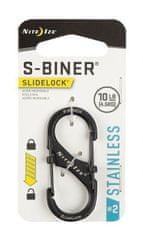 Nite Ize LSB2-01-R3 S-Biner® SlideLock® Stainless Steel #2 - Black