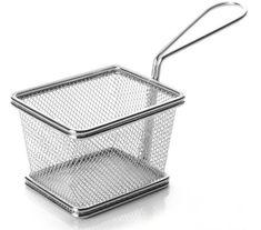 Weis 15630 Servírovací košík hranatý 10cm nerez