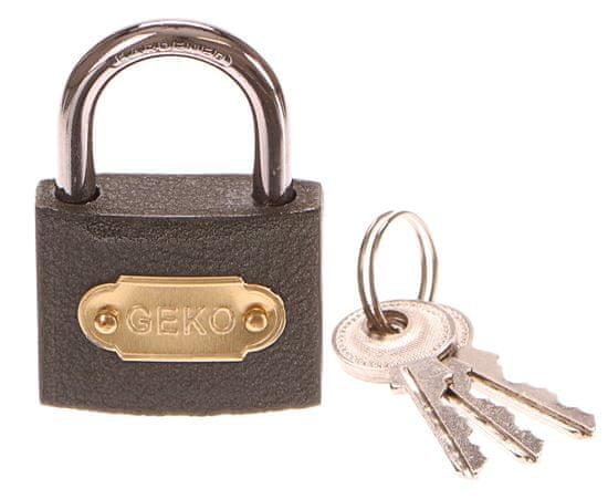 GEKO Zámek visací, 50mm, 3 klíče