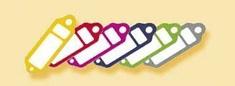 AHProfi Červené Plastik visačky na klíče, malé 100 ks - 434020150 | AHProfi