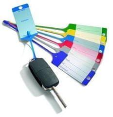 AHProfi Červené PP plastové visačky na klíče 100ks - 434020080 | AHProfi