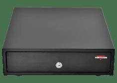 Virtuos pokladničná zásuvka mikro EK-300C čierna s káblom a kovovými držiaky bankoviek (EKN0111)
