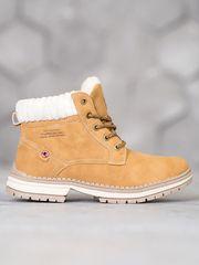 Originální kotníčkové boty dámské zlaté na plochém podpatku