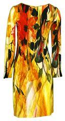 Favab Dámské šaty s barevným potiskem Lana - Favab