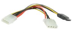 Gembird redukce SATA - napájecí rozdvojka 15cm 1x 5,25 na 1x 5,25 + 1xSATA