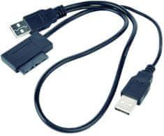 Gembird CABLEXPERT kábel externí adaptér USB na Slim SATA SSD, DVD