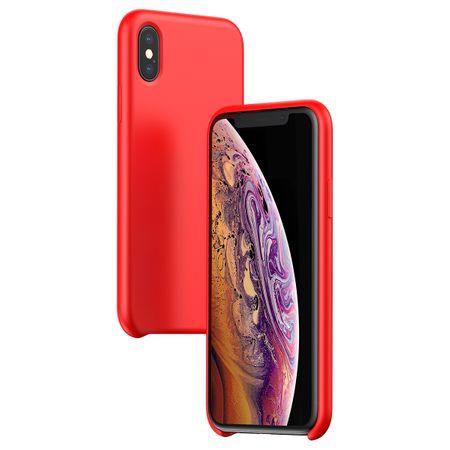 BASEUS Original Series LSR zaščitna prevleka iz silikona za iPhone X/XS, rdeča, WIAPIPH58-ASL09