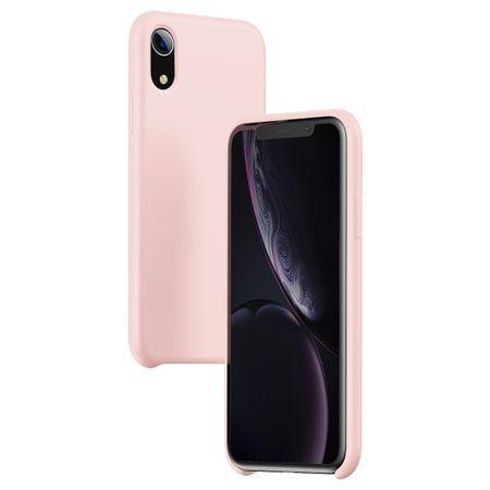 BASEUS Original Series LSR zaščitna prevleka iz silikona za iPhone XR, roza WIAPIPH61-ASL04