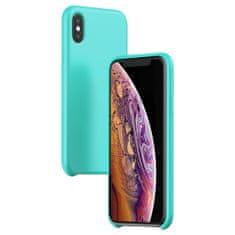 BASEUS Original Series LSR védőtok folyékony szilikonból iPhone XS MAX telefonokra, kék, WIAPIPH65-ASL03