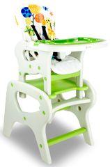 Asalvo Jídelní židle - stolek a židle CONVERTIBLE jungle