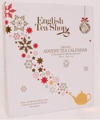 English Tea Shop Adventní kalendář bílý - kniha, ETS24 pyramidek, 13 příchutí