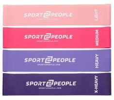 Sport2People lateks elastika za vježbanje, 4 kom