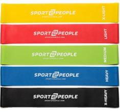 Sport2People lateks elastika za vježbanje, 5 kom