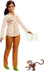 Mattel lalka Barbie zawody - ekolog National Geographic i małpka