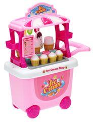 Mikro hračky Stánek zmrzlinový pojízdný 23x38x16cm s doplňky