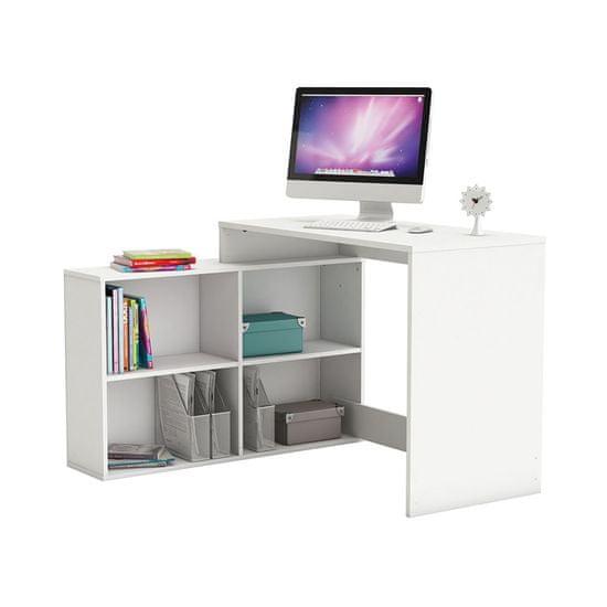 IDEA nábytok Rohový písací stôl CORNER biely