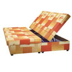 IDEA nábytek Dvoulůžko SÁRA s úložným prostorem