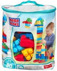 MEGA BLOKS Kocky v plastovom vreci chlapci, 80 kociek